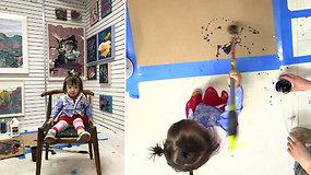 Neįtikėtina dvimetės sėkmė: už mergaitės paveikslus moka po kelis tūkstančius