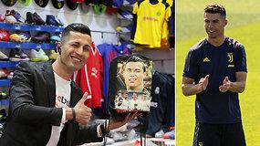 """Suraskite skirtumus: Cristiano Ronaldo """"dvynys"""" gyvena už tūkstančių kilometrų"""