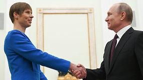 Seniai nesimatė: Estijos prezidentė K.Kaljulaid susitiko su V.Putinu