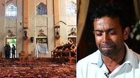 Kruvinus išpuolius Šri Lankoje išgyvenęs vyras neteko artimiausių: radau jas gulinčias nebegyvas