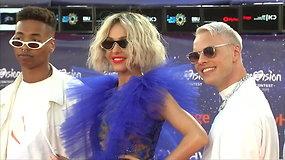 """""""Eurovizija"""" skelbia startą: dalyviai žengė oranžiniu kilimu"""