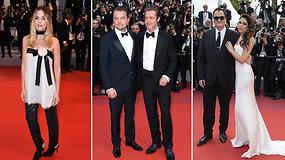Karščiausi Holivudo aktoriai B.Pittas, L.DiCaprio ir M.Robbie sužibo Q.Tarantino filmo premjeroje