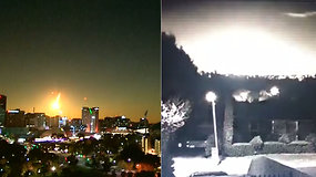 Tiesiai prieš akis užsiliepsnojęs akinantis meteoras nustebino gamtos fenomeno liudininkus