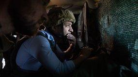 Prezidentas Volodymyras Zelenskis aplankė fronto liniją Rytų Ukrainoje