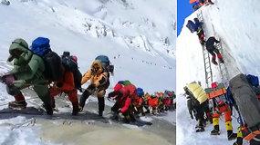 """Kopimas į Everestą  virto """"mirties lenktynėmis"""": nuo kalno nusileidęs alpinistas sako, kad tai – skerdynės"""