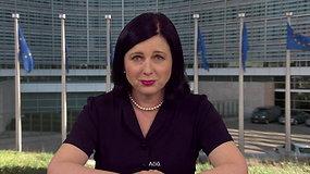 """""""Baltic Pride"""" dalyvius sveikina eurokomisarė V. Jourova"""