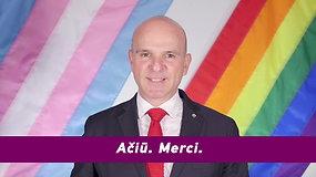 """""""Baltic Pride"""" dalyvius sveikina Kanados Premjero specialus atstovas R. Boissonnault"""