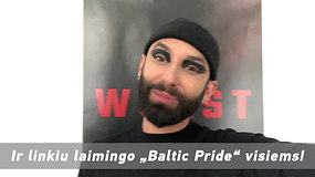 """Conchita Wurst sveikina """"Baltic Pride"""" dalyvius: ačiū, kad žygiuojate už lygybę"""