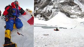 Alpinistas buvo pasiruošęs lipti per Evereste žuvusiųjų kūnus, bet to nesitikėjo – paviešino, kaip evakuojamas kūnas