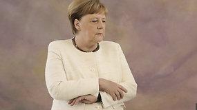A.Merkel vėl nevaldė drebulio: antrasis kartas per mėnesį kelia nerimą dėl jos sveikatos