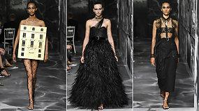 """Pasigrožėkite: """"Christian Dior"""" pristatė juoda prabanga alsuojančią aukštosios mados kolekciją"""