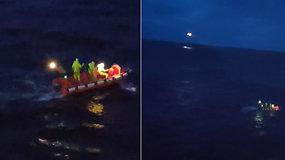 Kelionė namo baigėsi tragedija: nufilmuota iš kelto iškritusių dviejų lietuvių gelbėjimo operacija