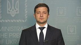 Ukrainos prezidentas V.Zelenskis kreipėsi į V.Putiną: siūlo surengti derybas Minske