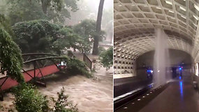 Tokio vaizdelio namų vidiniame kieme išvysti nesitikėjo – šlapia staigmena kitų laukė metro stotyje