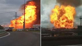 Prie Maskvos esančioje jėgainėje buvo įsiplieskęs didelis gaisras – atviros liepsnos nuslopintos