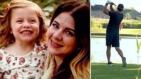 Išvyka į golfo aikštyną virto košmaru: tėvo paleistas kamuoliukas mirtinai sužeidė dukrą