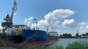 Ukraina sulaikė Rusijos tanklaivį, susijusį su incidentu Kerčės sąsiauryje