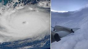 Įskrido į katastrofišku vadinamo uragano Dorian akį – sustiprėjusi gamtos stichija smogė Bahamų saloms
