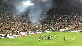 """Emocijos po rungtynių: """"Ferencvaroš"""" sirgalių šėlsmas ir """"Sūduvos"""" liūdesys"""