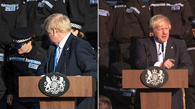 Nualpusi pareigūnė nesujaudino abejingo B.Johnsono – premjero reakcija nustebino internautus