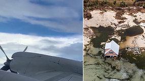 Į uragano Dorian akį įskridusį pilotą nustebino įspūdingas efektas – pražūtingas monstras susilpnėjo