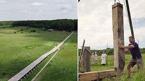 Atidarytas ilgiausias pasaulyje Vikingų tiltas: viskas kaip ir prieš 1000 m.
