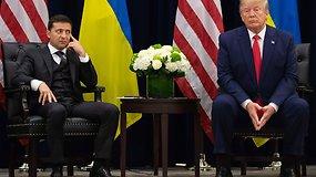 """V.Zelenskis galvojo, kad bus paviešinta tik D.Trumpo pokalbio dalis: """"niekas negali daryti man spaudimo"""""""