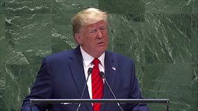 """D.Trumpas Jungtinėse Tautose: ateitis priklauso """"patriotams, o ne globalistams"""""""