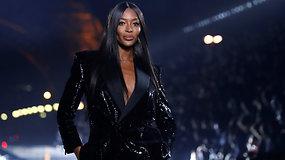 """""""Saint Laurent"""" 2020 m. pavasario ir vasaros kolekcijos pristatyme – įspūdingas Naomi Campbell pasirodymas"""
