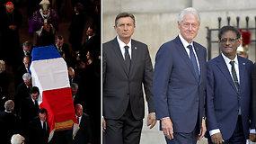 Paryžiuje įvyko velionio prezidento Jacques'o Chiraco laidotuvių pamaldos - atvyko dešimtys pasaulio lyderių