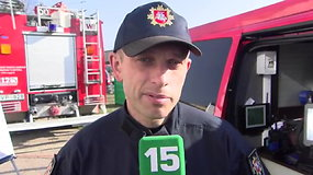 M.Kanapickas: visi ugniagesiai turi kvėpavimo organų apsaugos priemones