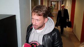 Po teismo posėdžio pratrūkęs E.Dragūnas vėl aštriai sukritikavo policiją