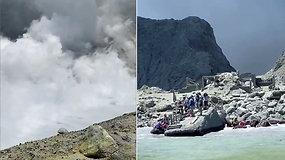 Naujojoje Zelandijoje išsiveržė ugnikalnis: turistai nufilmavo, kaip palieka pavojingą Baltąją salą