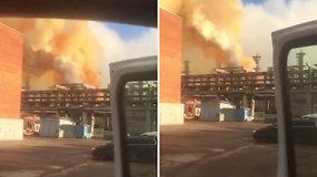 """Incidentas """"Achemos"""" gamykloje: teko stabdyti azoto rūgšties agregatą, pasirodė dūmai"""
