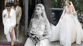 Jos pinigų neskaičiuoja: vienos brangiausių žvaigždžių vestuvinių suknelių – kuri kainavo milijoną?