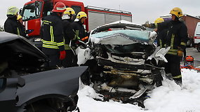 Panevėžio rajone per avariją žuvo du žmonės