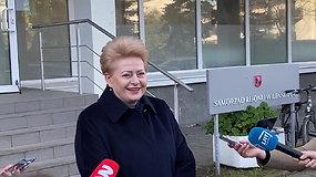 Antrajame rinkimų ture balsavo kadenciją baigusi prezidentė Dalia Grybauskaitė – už ką balsavo, neįvardijo.