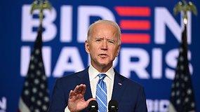 """Be penkių minučių prezidentas J.Bidenas: """"Tikime, kad būsime nugalėtojai"""""""