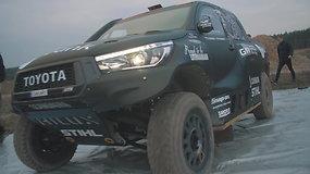 """Benediktas Vanagas išbandė naująjį """"Toyota Hillux"""" bolidą ir pasidalijo įspūdžiais"""