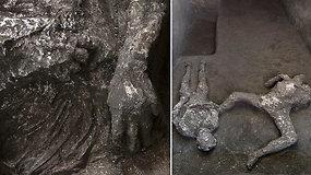 """Rastas """"neįtikėtinas ir nepaprastas"""" tragedijos liudijimas: po ugnikalnio lava palaidotuose Pompėjuose aptiktos skeletų liekanos"""