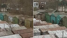 Vilniuje nuo garažų plėšomi informaciniai lapeliai apie jų nukėlimą