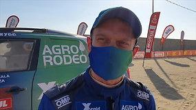 """B.Vanagas į finišą partempė V.Žalą: """"Kas nutiko? Baigėsi Dakaras"""""""