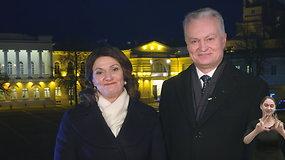 Gitanas ir Diana Nausėdos sveikina su Naujaisiais metais