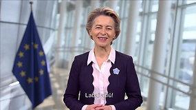 """Ursula von der Leyen padėkojo už laisvę kovojusiems lietuviams: """"Be jų parodytos narsos šiandien Europa būtų kitokia"""""""