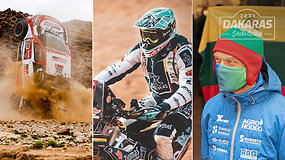 Svarbiausi Dakaro dienos įvykiai su A.Gelažninku – nuo netikėtai išsiskleidusios oro pagalvės iki lyderių avarijų