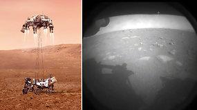 """Pamatykite: Marse sėkmingai nusileido NASA """"Perseverance"""" zondas ir perdavė pirmus vaizdus"""
