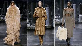 """""""Fendi"""" dizaineris K.Jonesas pristatė neutralių tonų kolekciją: įsiklausau į nuostabių, stiprių moterų poreikius"""