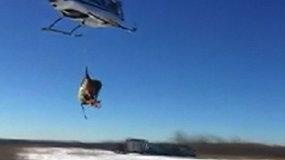 Kentukio danguje – briedžiai: gyvūnai sraigtasparniu perkelti į kitą gyvenamąją vietą