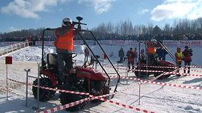 Baltarusijoje surengtas traktorių biatlonas