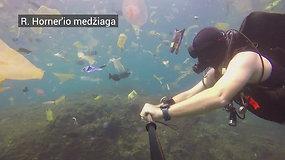 Nardytojas prie Balio nufilmavo šiukšlių vandenyną
